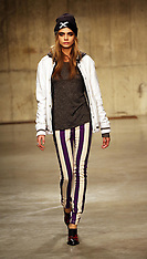 FEB 17 2013 Cara Delevingne in rehearsals at the Unique Topshop show at London Fashion Week A/W 13
