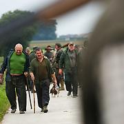 Partridge hunting in rural Belgium on Friday September 10, 2010.