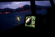 A view of the radar off the coast of Lesvos island.  Image © Angelos Giotopoulos/Falcon Photo Agency..