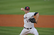 Ole MIss' Bobby Wahl pitches vs. Kentucky at Oxford-University Stadium in Oxford, Miss. on Thursday, April 25, 2013. Kentucky won 3-2.