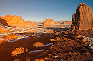 Arches National Park, Courthouse Towers, Three Gossips, Sheep Rock, Tower of Babel, The Organ, Utah.