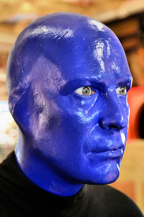 Blue Man Group Sculpture from Faces on the Strip at Las Vegas, Nevada