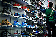 Trainers for sale in Foot Locker Shop - Nov 2014.