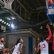 Grand Rapids Drive Guard CHRIS ANDERSON (24), RIGHT,  attempts a shoot as Delaware 87ers Forward JAMES WEBB III (3) watches in the second half of a NBA D-league regular season basketball game between the Delaware 87ers and the Grand Rapids Drive (Detroit Pistons) Tuesday. Nov. 29, 2016 at The Bob Carpenter Sports Convocation Center in Newark, DEL.