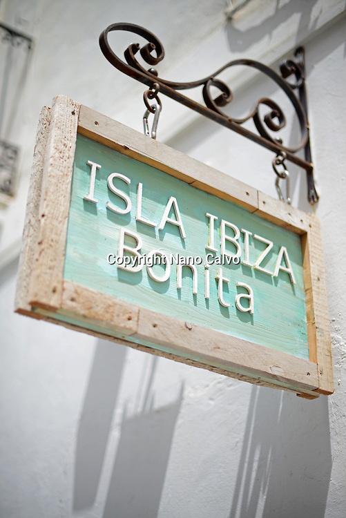 Store sign in Ibiza town