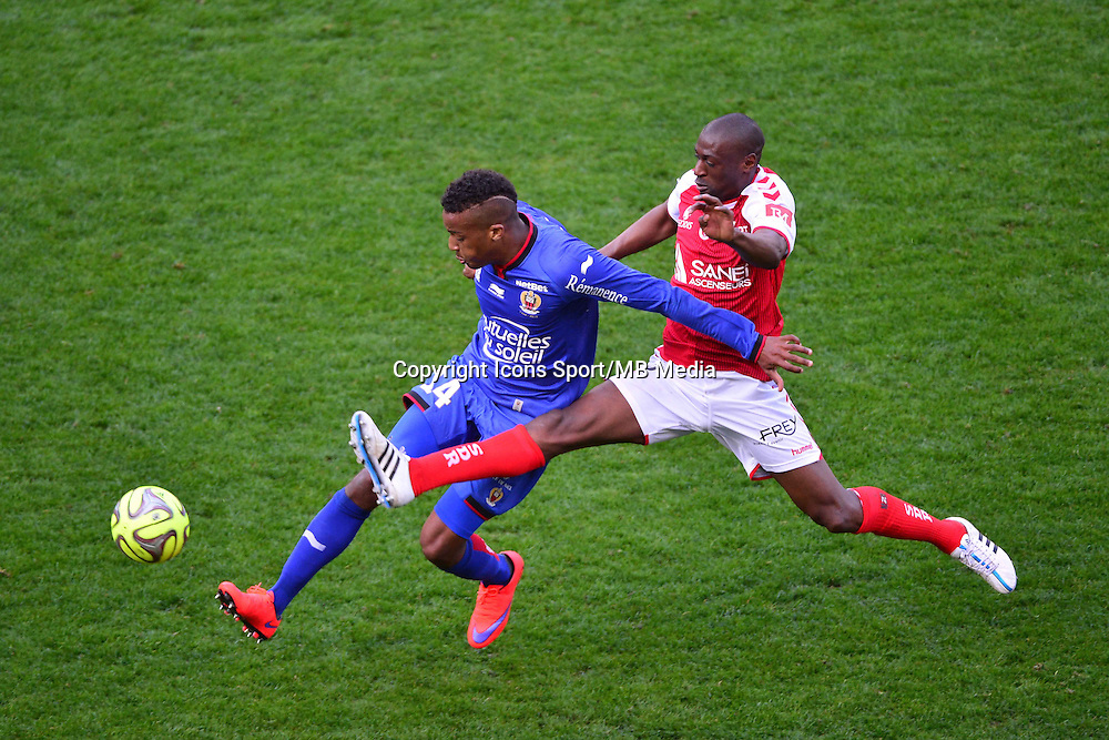 Alassane PLEA / Mohamed FOFANA - 12.04.2015 - Reims / Nice - 32eme journee de Ligue 1 <br />