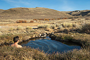 Natural hot spring at Hart Mountain National Antelope Refuge, southeast Oregon.