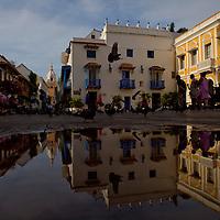Saint Pedro Square in Cartagena, Colombia...Photo by Robert Caplin.