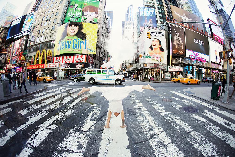 Jeffrey Villanueva at Times Square, New York