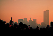 NYC, NY rooftops, Twin Towers