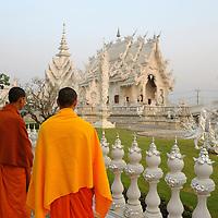 Monks at Wat Rong Khun, White Temple, Chiang Rai, Thailand