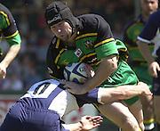 01/06/2002.Sport - Rugby - Zurich Championship.Bristol v Northampton.Craig Moir breaking for the Saints.   [Mandatory Credit, Peter Spurier/ Intersport Images].