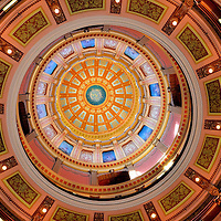 Michigan State Capitol Rotunda Dome in Lansing, Michigan<br />
