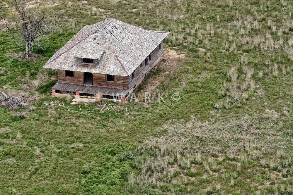 Farm ghost house. Elbert County, Colorado.  May 2015