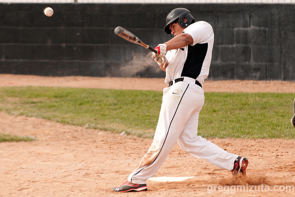 Vale's Derrek Rodriguez bats against New Plymouth on April 28, 2011 at Cammann Field. Rodriquez went 0 for 2 with a walk, HP and a run in Vale's 8-3 win.
