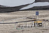 Solar cell, Roald Amundsens institute at Kvadehuken (Svalbard)
