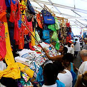 Shopping at the Straw Market, Downtown Nassau in The Bahamas.