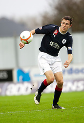 Falkirk's Murray Wallace..Falkirk 1 v 0 Queen of the South, 15/10/2011..Pic © Michael Schofield.