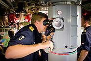 Koning heeft dinsdag 7 en woensdag 8 oktober een bezoek gebracht aan de vijf Nederlandse marineschep