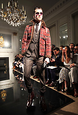 JAN 9 2013 Hardy Amies show at London Menswear Fashion Week A/W 2013