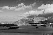 Looking towards Keswick, in the Lake District, England from the Ashness Woods view point. The lake is Derwent.<br /> <br /> All posters are self-fulfilled. Prices vary depending on poster size and quality. Delivery is usually &pound;3.75.