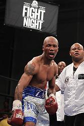 Mar 24; Brooklyn, NY, USA; Zab Judah celebrates his 9th round TKO over Vernon Paris at the Aviator.