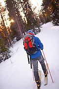 Altai Skiing in Pyh‰ ski resort, Lapland, Finland