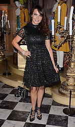 Lizzie Cundy attends The Cinderella VIP Exhibition Preview and Screening at Vue West End, Leicester Square, London on Sunday 29 March 2015