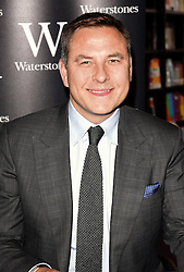 David Walliams, along with illustrator Tony Ross, signs copies of his new book The World's Worst Children at Waterstones, Piccadilly, London on Thursday 19 May 2016