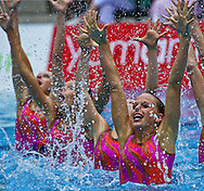 Busto Arsizio (VA) - Italy.CoMeN - Mediterranean Synchronised Swimming cup 2011.The international competition is reserved to athletes 14 years old or younger. 25 nations are taking part to the 2011 edition..Day 04 - Combo Preliminary.AUT.Photo G.Scala/Deepbluemedia.eu