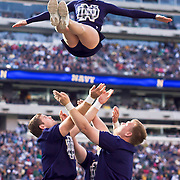 Norte Dame cheerleaders during game action at The New Giant's Stadium as Navy defeats Notre Dame 35-17 at The New Giant's Stadium in East Rutherford New Jersey