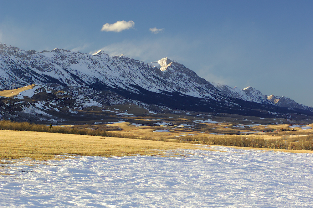 Rocky Mountains, winter, Burmis, Alberta, Canada.