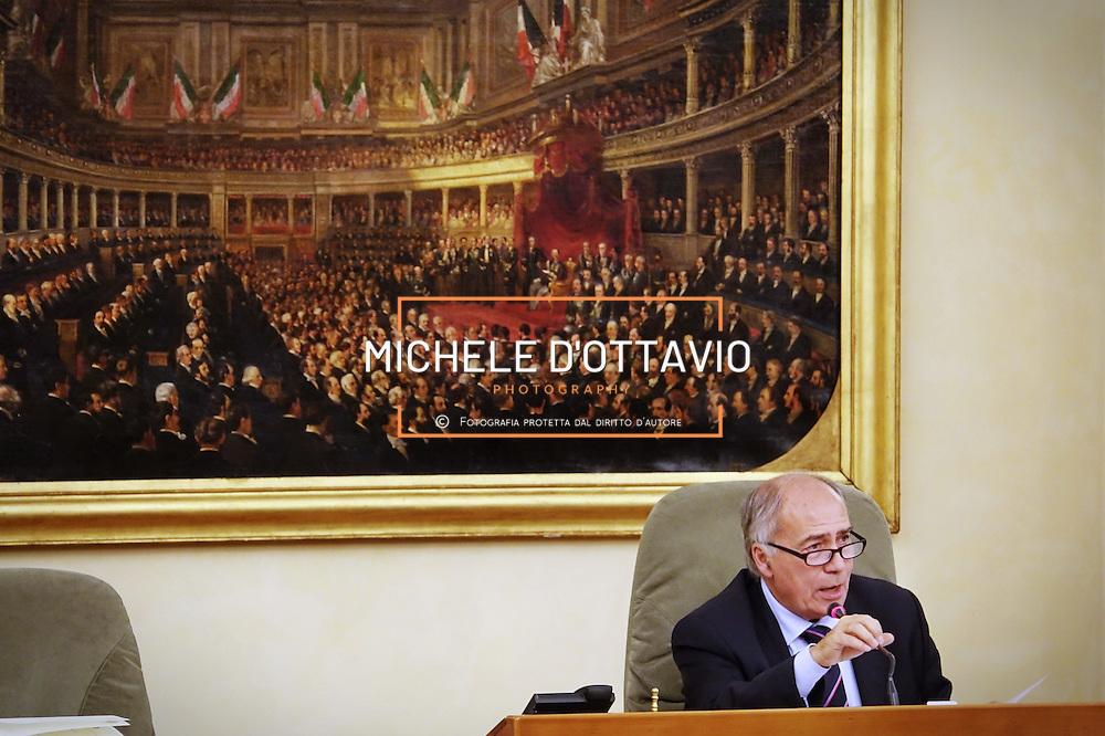 Il Vicepresidente Nino Boeti durante la Seduta n. 191 del Consiglio Regionale del Piemonte del 06-12-2016 delle ore 15.00