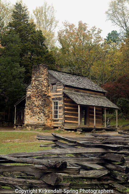 TN00021-00...TENNESSEE - John Oliver Place in Cades Cove, Great Smoky Mountains National Park.