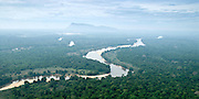 Aerial Images of Sri Lanka. Mahaweli river in fore ground. Dimbulagala (back ground) Gunner's Quoin.