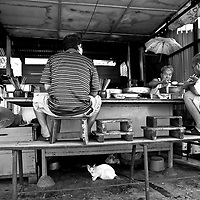Curbside dining, Penang, Malaysia