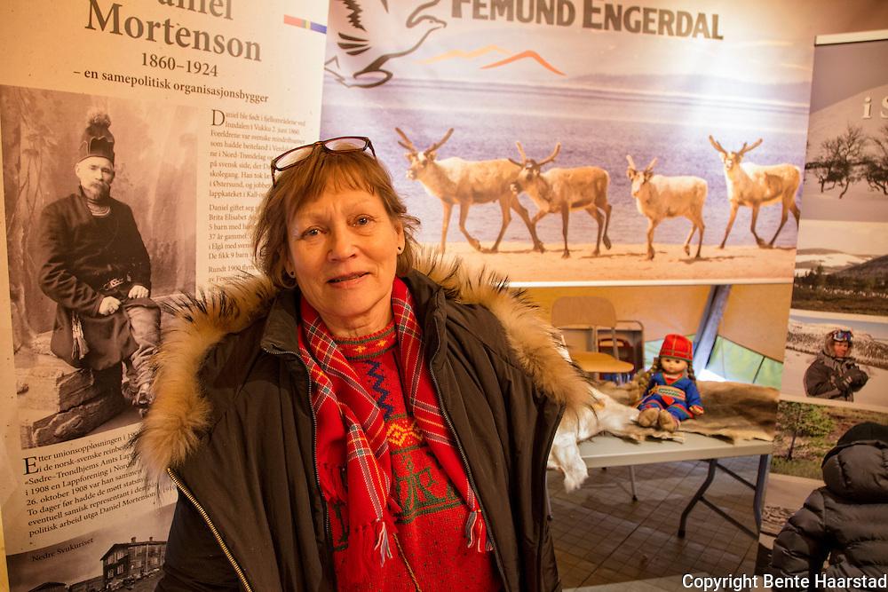 Marie Kristine Lorentzen, f. Mortensson, Svahken sijte, Elgå reinbeitedistrikt, Femund-Engerdal.