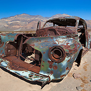 Rusted Out Abandoned 1940s Car - Death Valley, CA