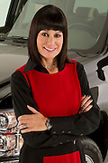 ROYAL OAK, MICHIGAN - OCTOBER 12: Andrea Riley, who led Chevy marketing at Campbell-Ewald, poses with a Chevy Silverado pickup truck in Royal Oak, MI, Wednesday, October 12, 2011.  Riley is currently Automotive Marketing Executive at Ally Financial. (Jeffrey Sauger)