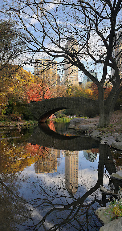 Gapstow Bridge in Central Park.