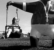 Young Girl on a Swing, East Coast England - 1998.