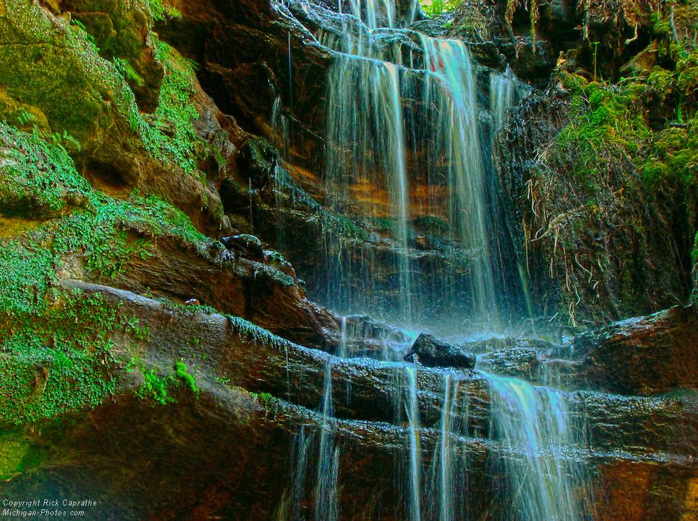 Tannery Falls Multiple Exposure HDR, Munising, Michigan's Upper Peninsula