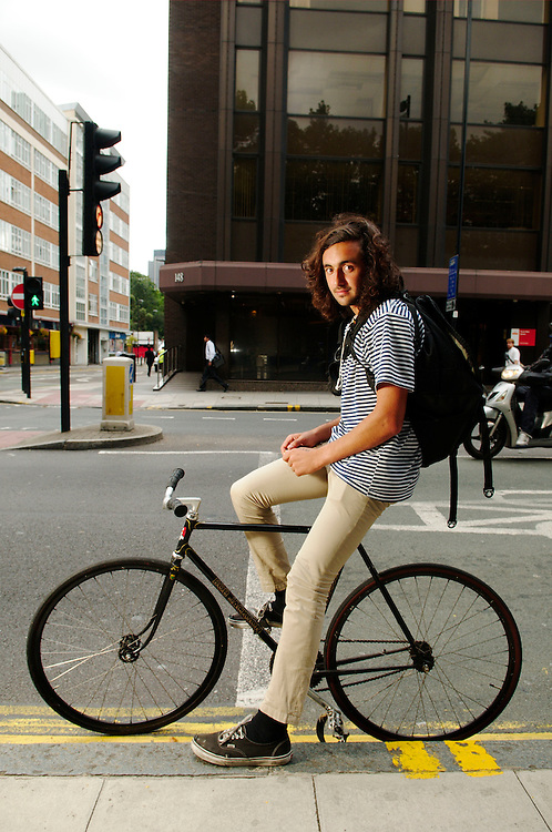 Fixie rider around London