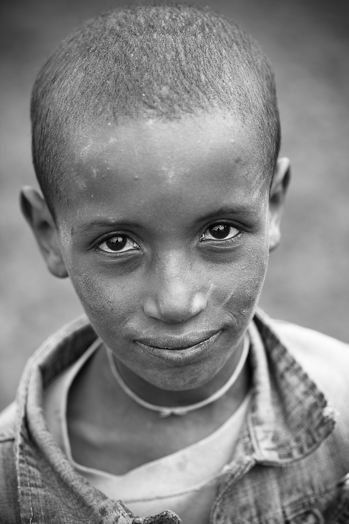 Young boy in Mehal Meda on the Guassa Plateau, Ethiopian Highlands