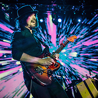 The Coral guitarist Paul Molloy live in London at the Forum on 16 March 2016 presenting their latest album Distance inbetween