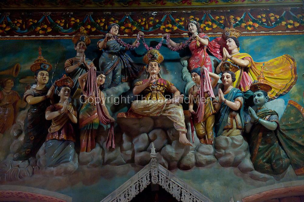 Sri Lanka. Buddhist temple just off the Kandy Road. Turn off at Mudungoda Junction.