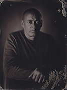 Ben Abbo, tintype portrait made with wetplate collodion process.