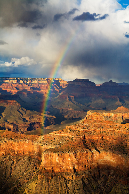 Rainbow over the Grand Canyon.