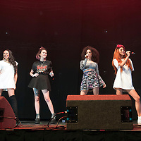 Neon Jungle performs on stage as part of Clyde 1 Live at The SSE Hydro on December 6, 2014 in Glasgow, United Kingdom. (Photo by Ross Gilmore