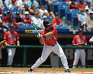 Mississippi's Zach Miller vs. South Carolina during the Southeastern Conference tournament at Regions Park in Hoover, Ala. on Wednesday, May 26, 2010. Ole Miss won 3-0.